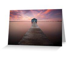 Swan river boatshed, Perth Western Australia Greeting Card