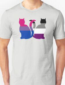 Bi Ace Pride Cats Unisex T-Shirt