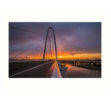 Dallas November Storm Sunset Art Print
