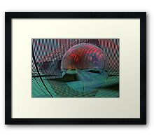 Relativity of a sphere // Calculus Framed Print