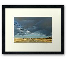Stormy highway Framed Print
