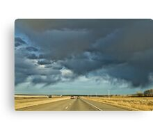 Stormy highway Canvas Print