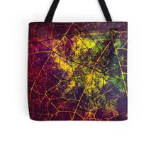 Yellow Pink Green and Blue Cracked Lacquer Grunge Texture Tote Bag