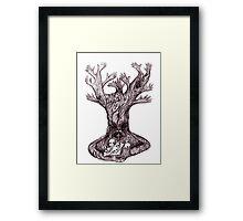 Skull tree Framed Print