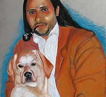 Martin with Jack the labrador by Elena Malec