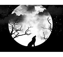 Bark at the Moon Photographic Print