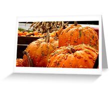 Pumpkins at Salt Lick Road Greeting Card