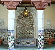 Moroccan Mosaic Tile Fountain by anitahiltz