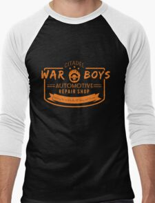 War Boys Auto Repair Men's Baseball ¾ T-Shirt