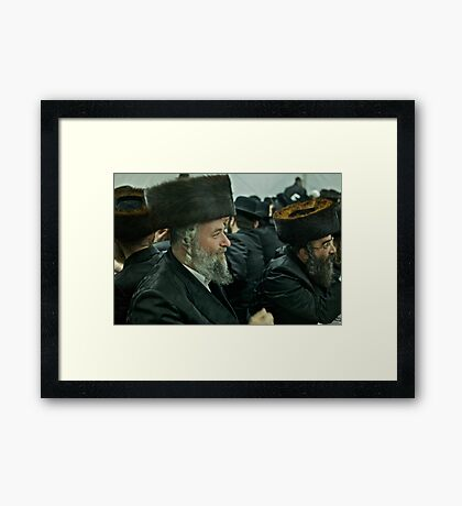 """7 ★★★★★ . A tish takes place at the meals in honor of the Shabbat, Jewish holidays, yahrzeit (""""annual memorial"""") for previous rebbes of that dynasty. by Doktor Faustus. Fav 2  views 256 .  Hat Heads ! Framed Print"""