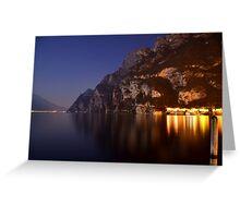 Il lago di notte Greeting Card