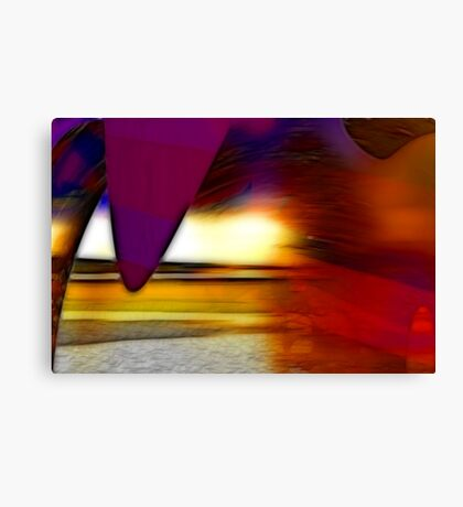 The irresistible sound of colours Canvas Print