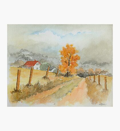 REST AND SPACE - AQUAREL Photographic Print