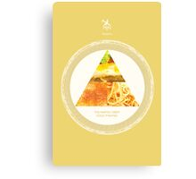 Cabin Pressure: The Martin Crieff Food Pyramid Canvas Print