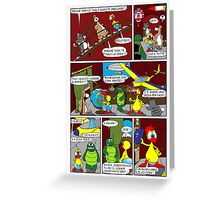 """Rick the chick  """"THE MAGIC SHELL (ITALIANO) parte 13"""" Greeting Card"""
