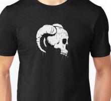 Morbid Skull With Ram Horns Unisex T-Shirt