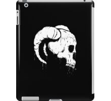 Morbid Skull With Ram Horns iPad Case/Skin