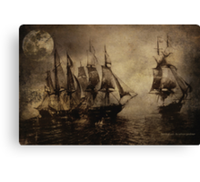 Battle At Sea Canvas Print
