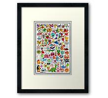 SMILEYS - 2012 Framed Print