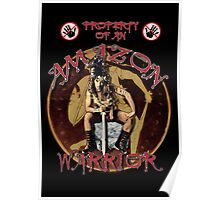 Property Of An Amazon Warrior Poster