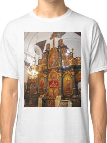 Iconostasis in Blagovestenska Church Classic T-Shirt