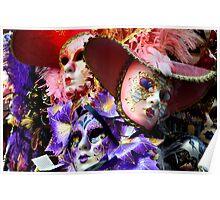 Maschere di Venezia-maschera di carnevale di Venezia Poster
