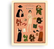 Amelie Poster Doll Canvas Print