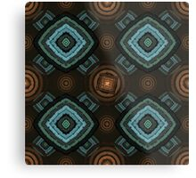 back to 70's, orange and blue Metal Print