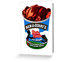 Brain Freeze Ice Cream Greeting Card