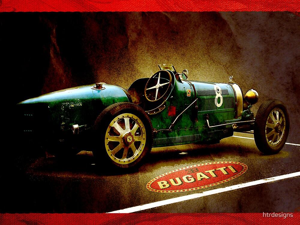 Time machine. Vintage Bugatti race car by htrdesigns