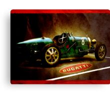 Time machine. Vintage Bugatti race car Canvas Print