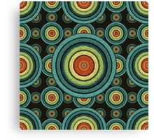 back to 70's, blue,green, yellow Canvas Print