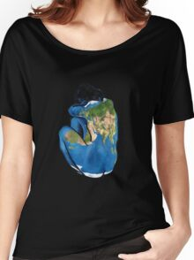 """""""Great Artists Steal"""" Pablo Picasso Inspired Blue Earth Nude Women's Relaxed Fit T-Shirt"""