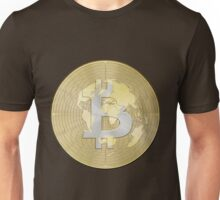 Bitcoin Borderless Crypto Currency Global World Earth Money Unisex T-Shirt