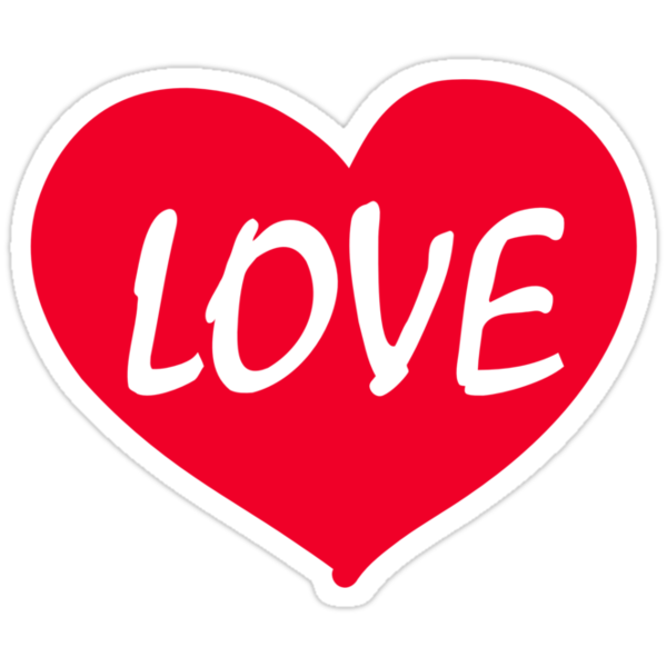 Quot Red Heart Love Quot Stickers By Designzz Redbubble