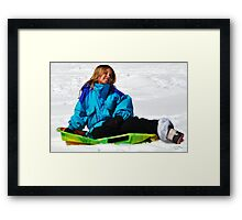 """ The making of a Snow Bunny "" Framed Print"