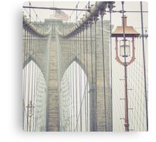Brooklyn Bridge Summer Rain Canvas Print