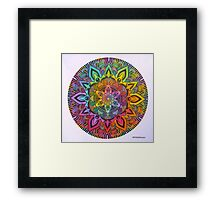Mandala 10 drawing rainbow 1 Prints, Cards & Posters Framed Print