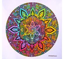 Mandala 10 drawing rainbow 1 Prints, Cards & Posters Photographic Print