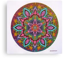 Mandala 10 drawing rainbow 2 Prints, Cards & Posters Canvas Print