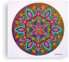 Mandala 10 drawing rainbow 2 Prints, Cards & Posters Canvas Print