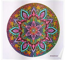 Mandala 10 drawing rainbow 2 Prints, Cards & Posters Poster