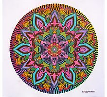 Mandala 10 drawing rainbow 2 Prints, Cards & Posters Photographic Print