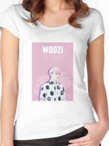 Seventeen - Pink Woozi Women's Fitted Scoop T-Shirt