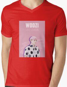 Seventeen - Pink Woozi Mens V-Neck T-Shirt