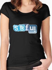 OMG, STFU! Distracted Driving Kills!! Women's Fitted Scoop T-Shirt
