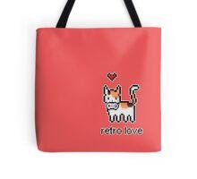 8 bit retro kitty Tote Bag