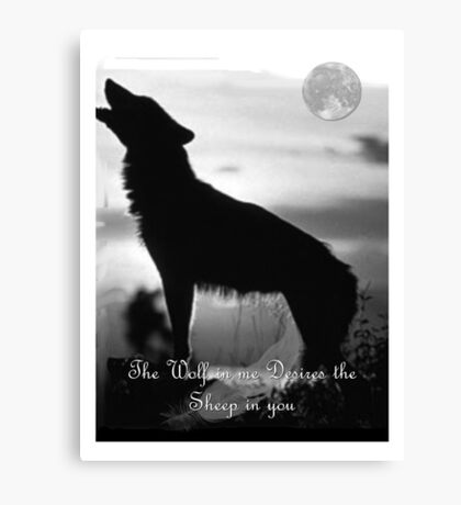Wolf Nights Picture Canvas Print