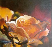 Fire and Ice Roses     Oils on Canvas by geri jones