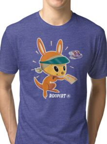 Roopert Kangaroo Delivery Expert (with Amelia) Tri-blend T-Shirt